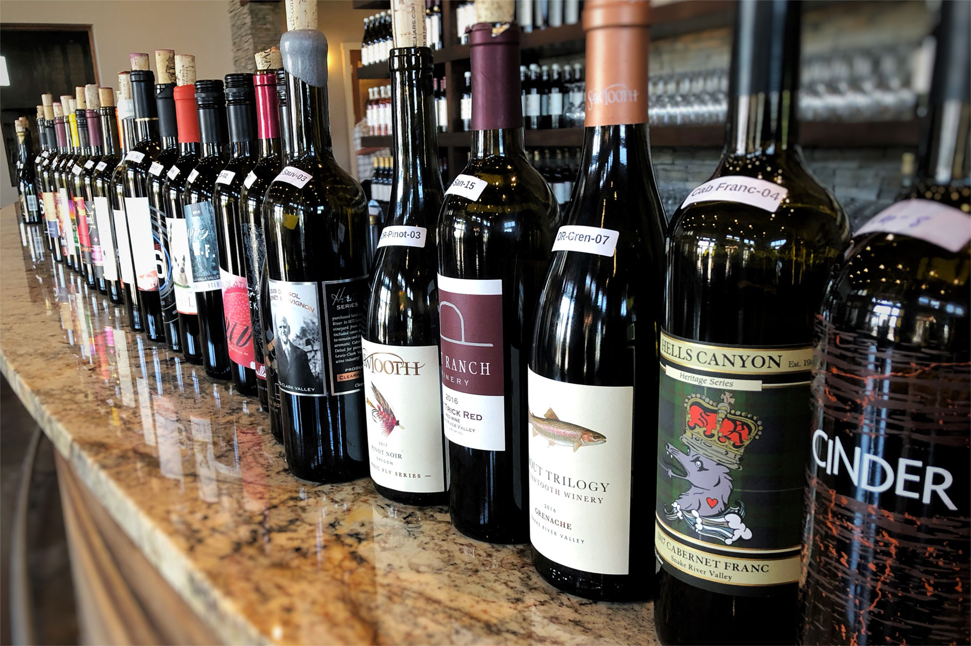 Idaho Wine submissions lined up